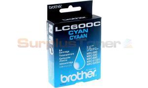 BROTHER MFC-580 590 890 5100J 5200J INK CTG CYAN (LC600C)