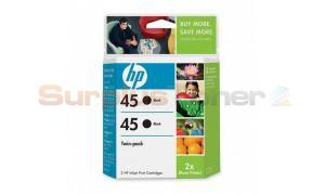 HP 45 PRINT CARTRIDGE BLACK TWINPACK (C6650BN#140)