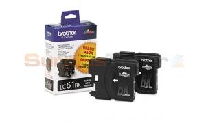 BROTHER DCP165C INK CARTRIDGE BLACK VALUE PACK (LC-61BK2P)