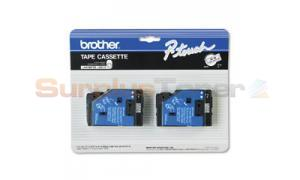 BROTHER P-TOUCH TAPE BLACK/CLEAR (1/2 X 50) (TC-10)