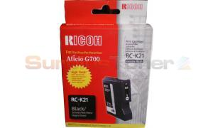 RICOH G500 RC-K21 GEL CARTRIDGE BLACK 2.9K (402280)