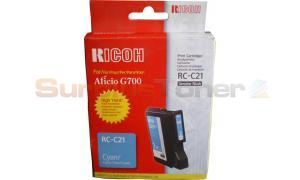 RICOH G500 RC-C21 GEL CARTRIDGE CYAN 2K (402279)