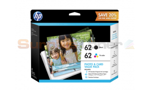 HP 62 INK CTG PHOTO AND CARD VALUE PACK 45 SHEETS (K3W67AN#140)