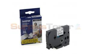 BROTHER P-TOUCH TAPE BLACK/WHITE (3/8 X 26) (TZ-221)