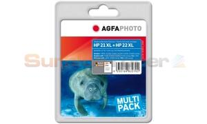 HP 21 22 INK CARTRIDGE MULTIPACK AGFAPHOTO (APHP2122SET)