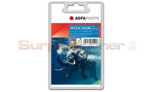 HP NO 62XL INK CARTRIDGE TRI-COLOR AGFAPHOTO (APHP62CXL)