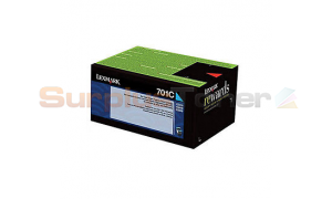 LEXMARK CS410 RP TONER CARTRIDGE CYAN 1K (70C10C0)