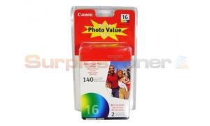 CANON BCI-16 PHOTO VALUE PACK WITH PAPER (9818A007)